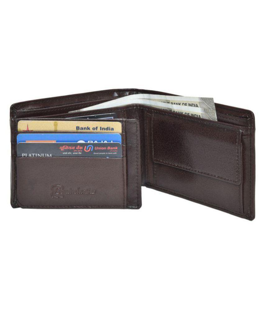 CLOUD WOODS Leather Brown Formal Long Wallet