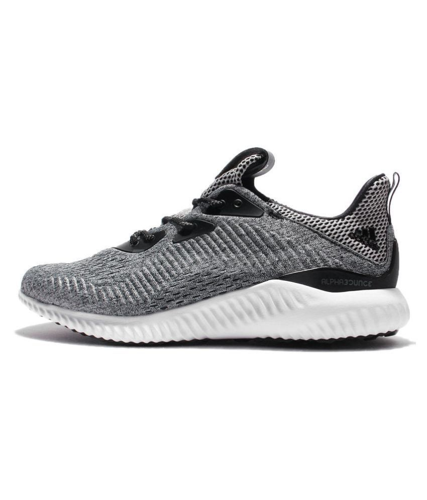 buy popular 37e8b ba01a ... Adidas Alphabounce EM Low Gray Running Shoes ...