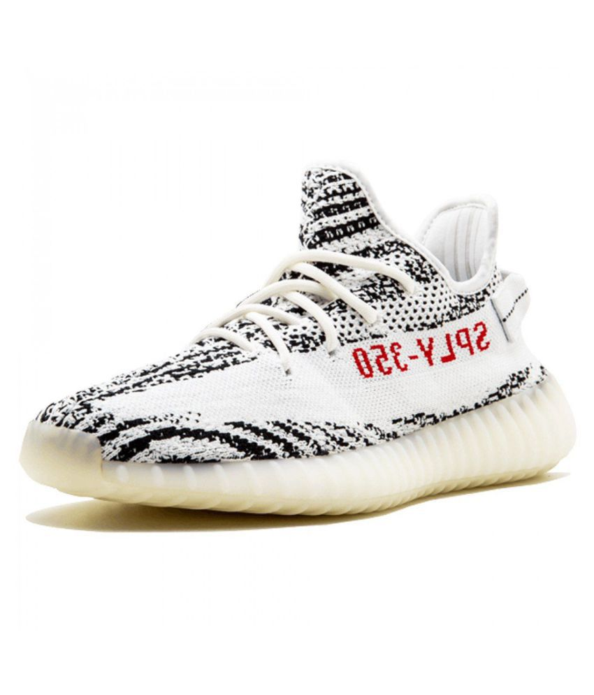11e56512d678c Adidas Yeezy 350 V2 Zebra White Running Shoes - Buy Adidas Yeezy 350 V2  Zebra White Running Shoes Online at Best Prices in India on Snapdeal