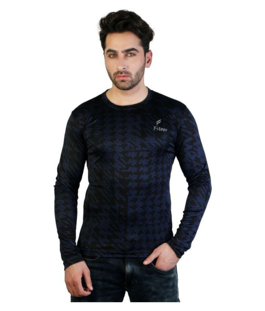 Fitoor Black Cotton T-Shirt