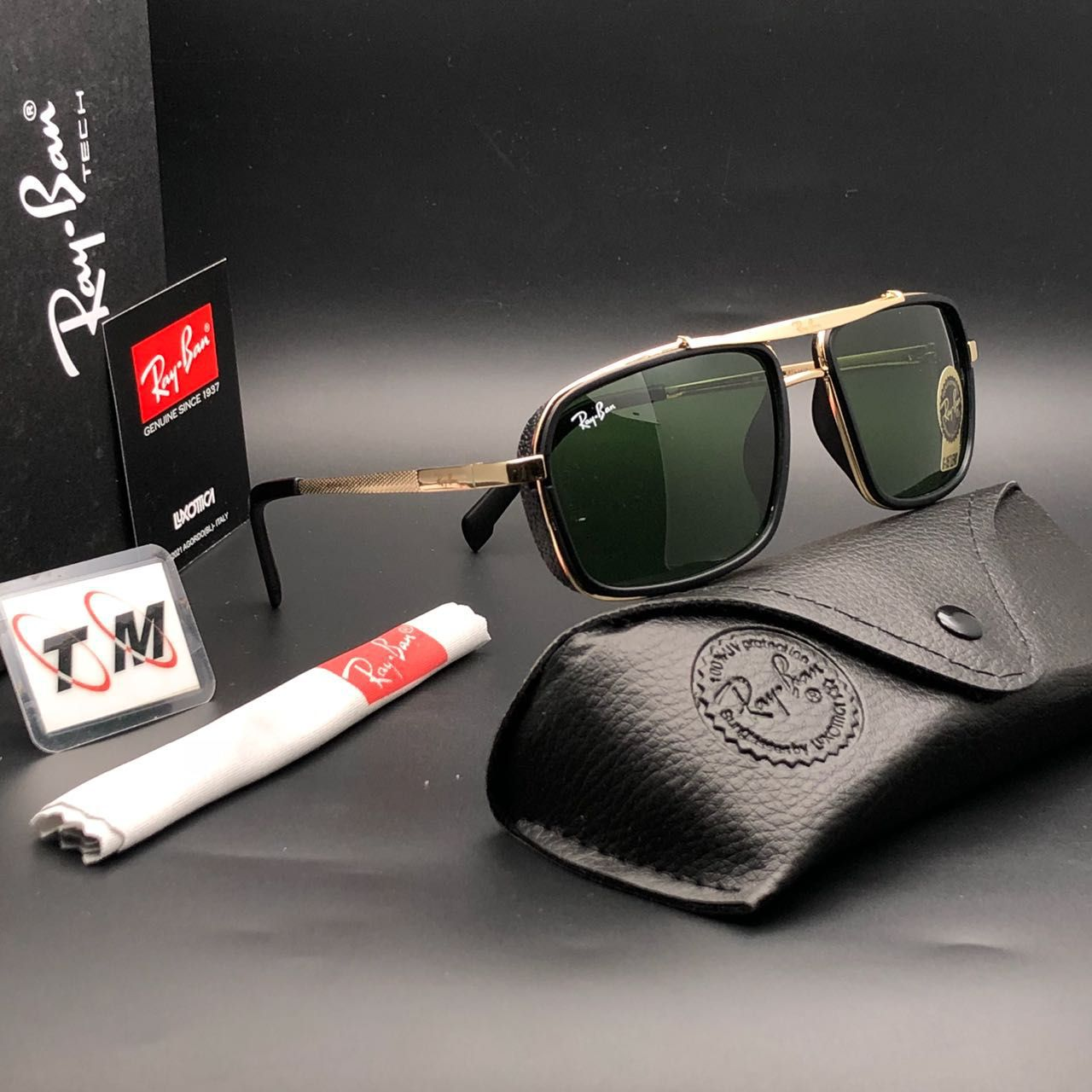 2b52dd8e30 Ray Ban Avaitor Green Aviator Sunglasses ( 4413 ) - Buy Ray Ban ...