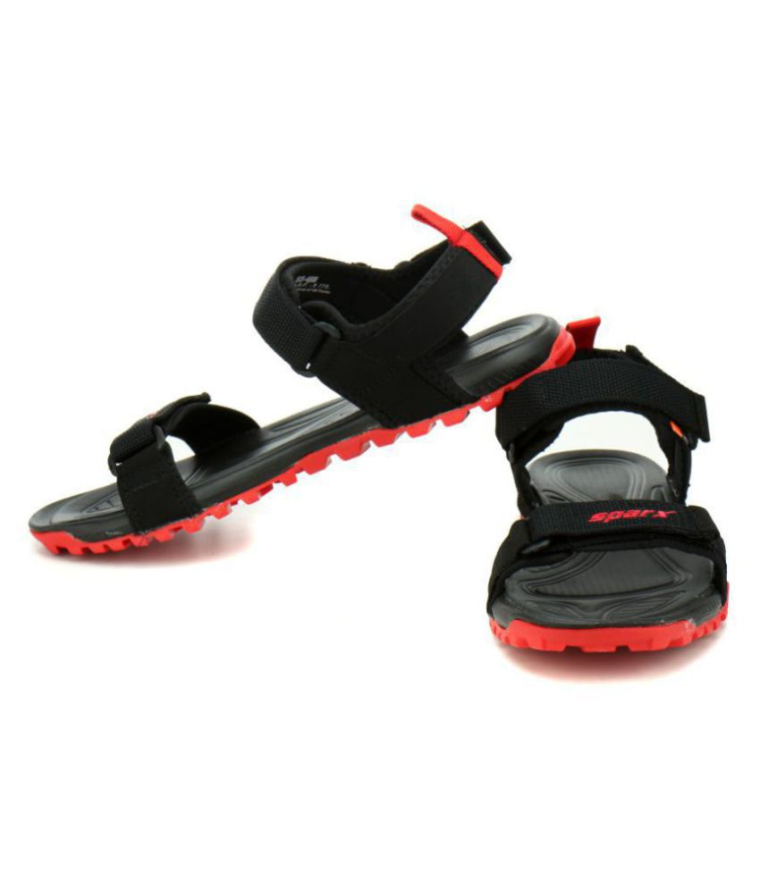 3af2ad41347fd Sparx SM-468 Black Synthetic Leather Sandals Price in India- Buy ...
