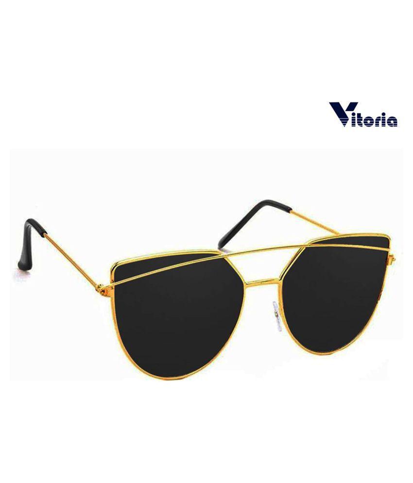 vitoria Black Panto Sunglasses ( VTR003 )