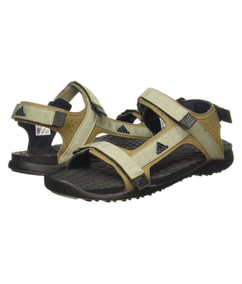 71fd8b587bd9 Adidas RAVISH M Brown Canvas Sandals Price in India- Buy Adidas ...