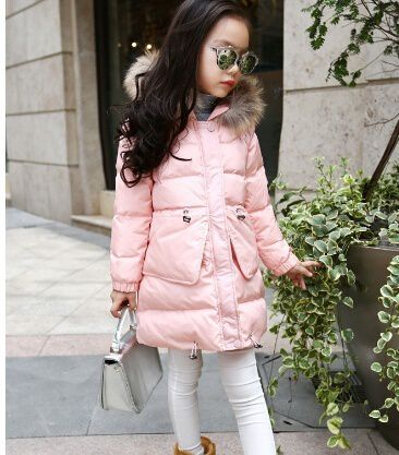 Changing Destiny Winter girls thick cotton jacket-Pink-1Pcs