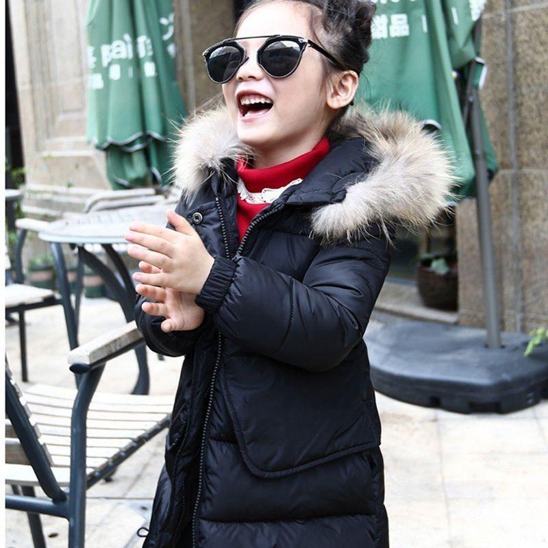 Changing Destiny Winter girls thick cotton jacket-Black-1Pcs