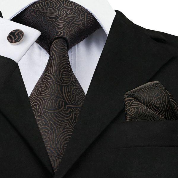 Kamalife Brown Printed Silk Necktie