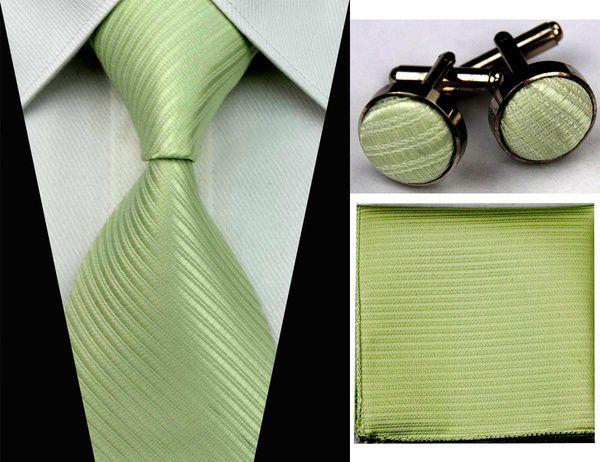 Kamalife Green Printed Polyester Necktie