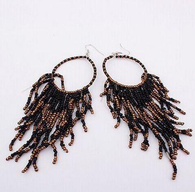 Levaso Fashion Earrings Ear Studs Resin Bohemia Tassels Jewelry Multi Color