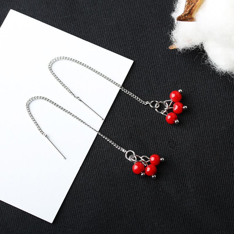 Levaso Fashion Jewelry Womens Earrings Ear Studs Alloy 1Pair Personality Gifts Red