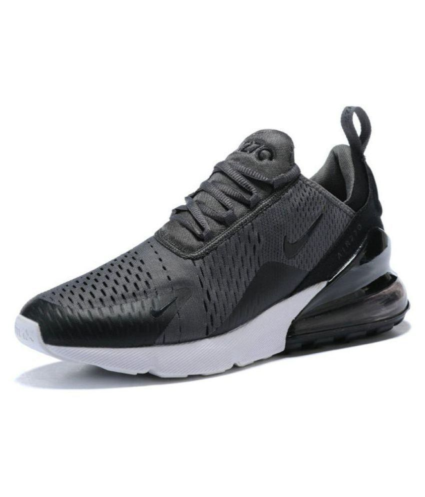 dc4e9a1557fdd9 Nike Airmax 270 Black Running Shoes - Buy Nike Airmax 270 Black Running  Shoes Online at Best Prices in India on Snapdeal