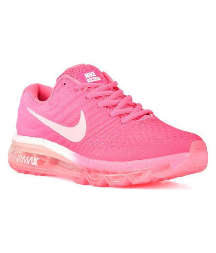43a13650195f Nike Air Max 2017 Pink Womens Running Shoes Price in India- Buy Nike Air Max  2017 Pink Womens Running Shoes Online at Snapdeal