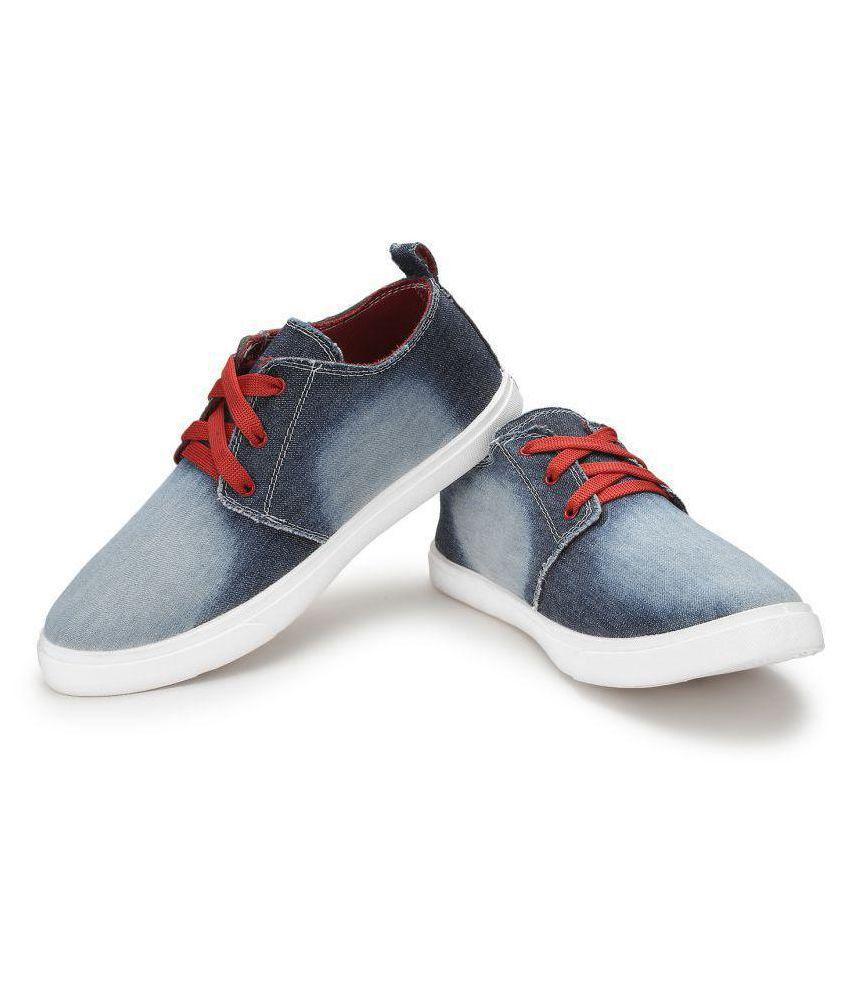 e04cb39d6b9 Treadfit Denim Premium Sneakers Blue Casual Shoes Treadfit Denim Premium  Sneakers Blue Casual Shoes ...