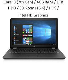 HP 15q-bu024tu Notebook Core i3 (7th Gen) / 4GB RAM / 1TB HDD / 39.62cm(15.6) / DOS / Intel HD Graphics 620 Graphics / Smoke Grey