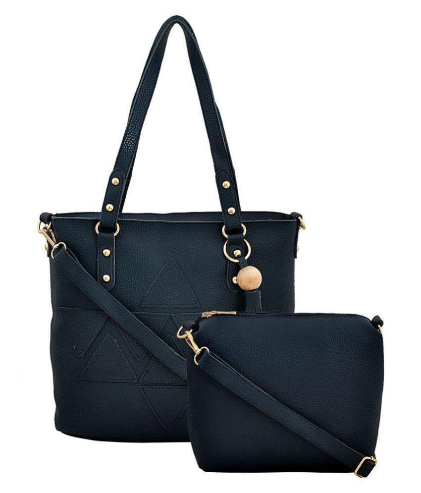 Mark & Keith Blue P.U. Shoulder Bag