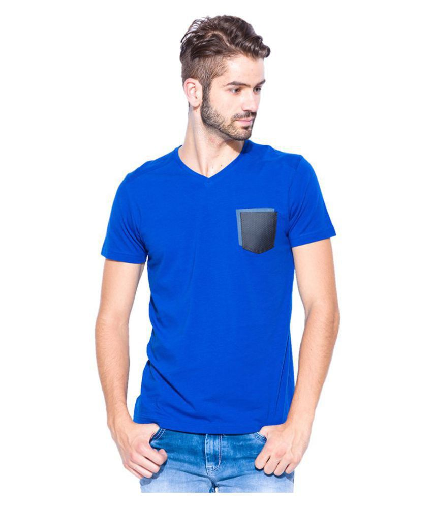Mufti Blue Half Sleeve T-Shirt