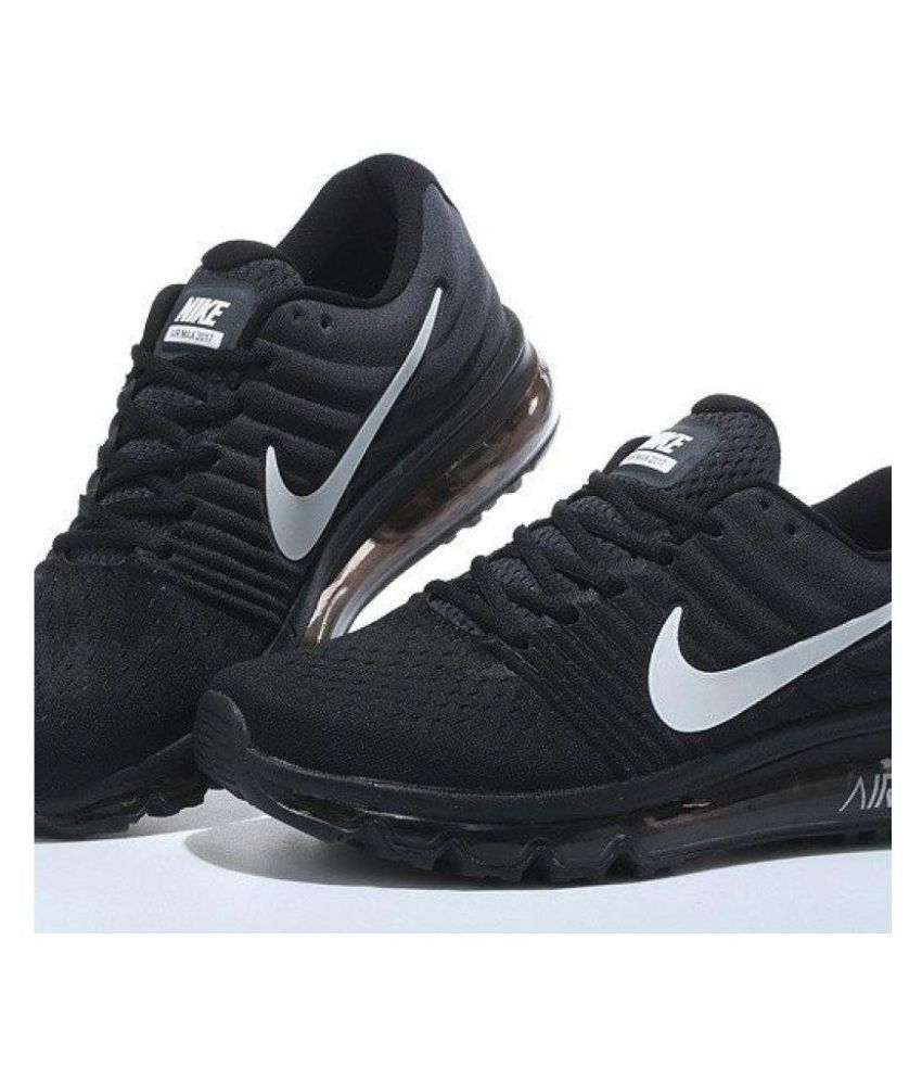 reputable site bf5f2 56357 ... Nike Air Max 2017 Black Womens Running Shoes