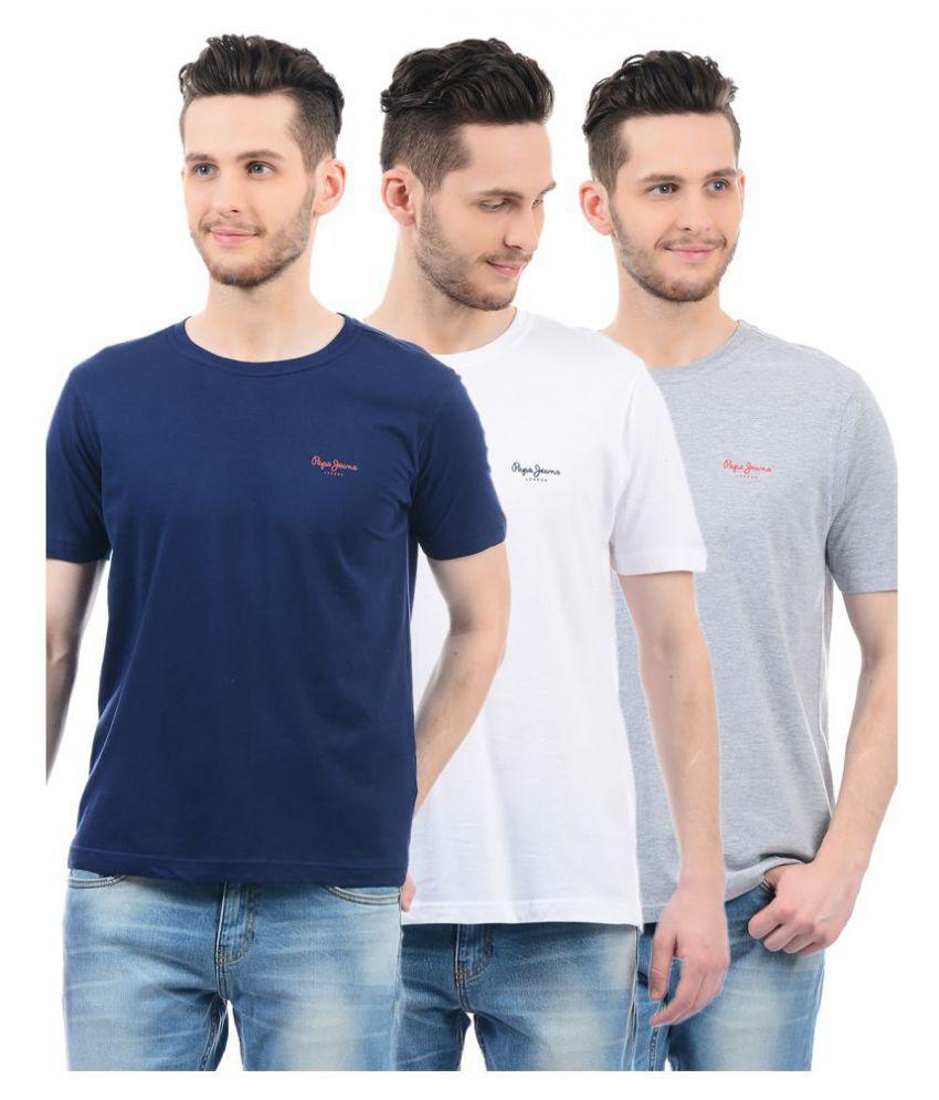 Pepe Jeans Multi Half Sleeve T-Shirt Pack of 3