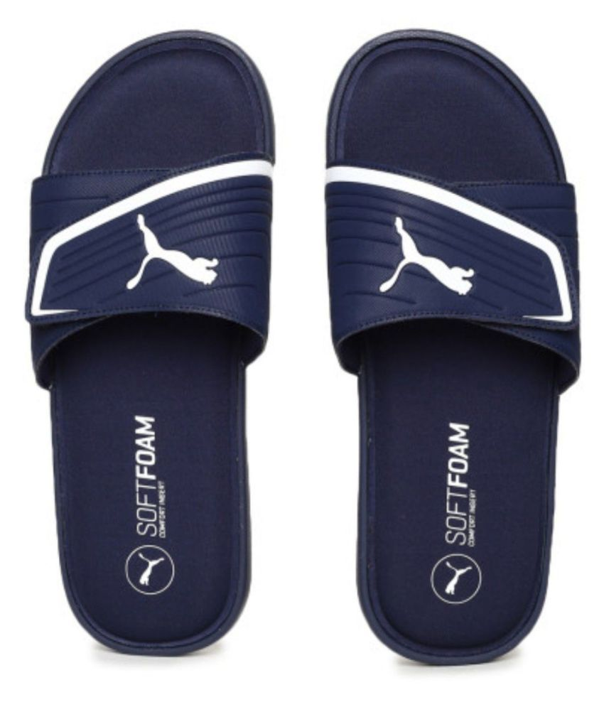 90a0625b773 Puma Starcat Blue Slide Flip flop Price in India- Buy Puma Starcat Blue  Slide Flip flop Online at Snapdeal
