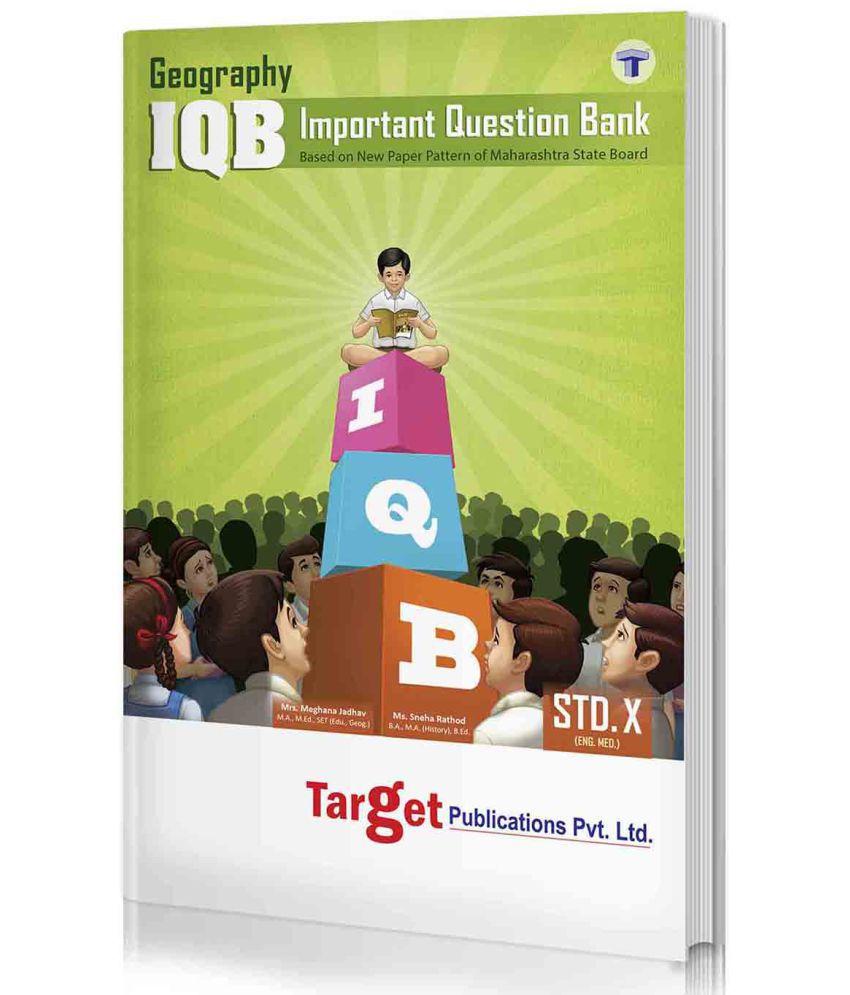 Std. 10th IQB Geography, English Medium (MH Board)