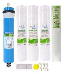 Hitech RO Water Purifier Membrane 75 GPD Inline Filter Set Spun Candle RO Service Kit