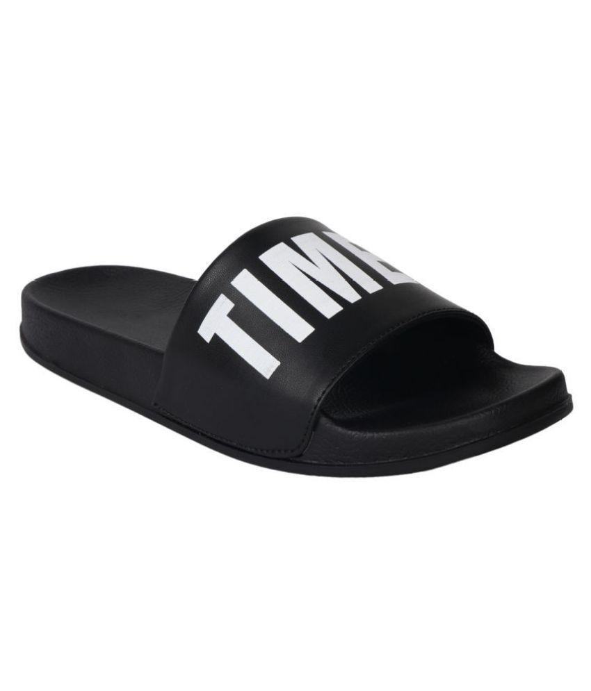 75e96a242 Do Bhai Black Slide Flip flop Price in India- Buy Do Bhai Black ...