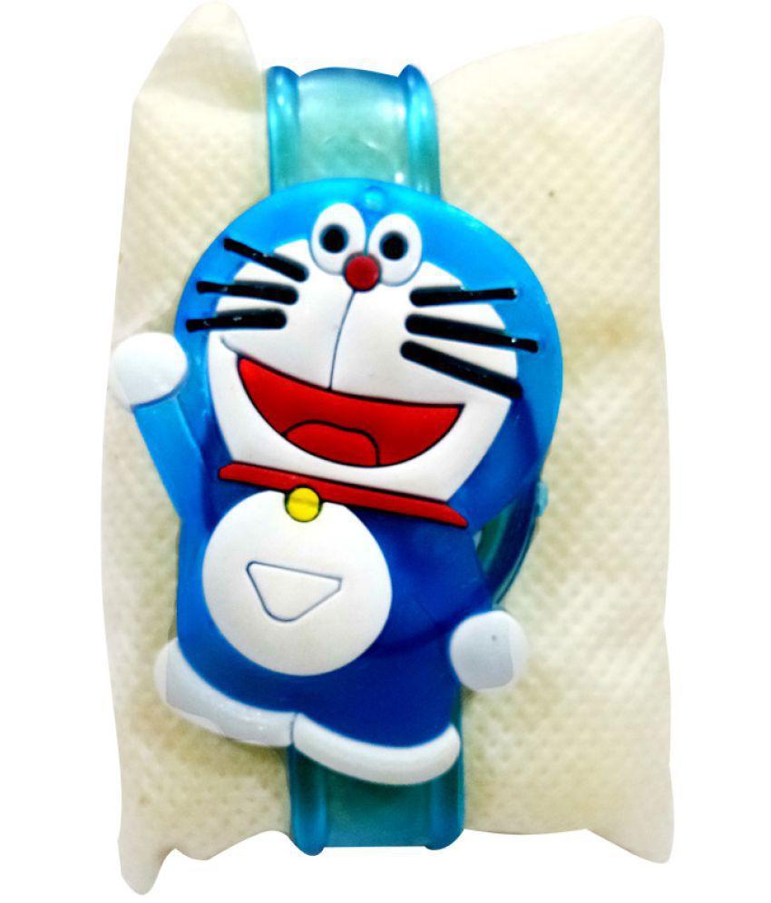 Kids Rakhi Doraemon Belt with LED light Blue Pack of 1