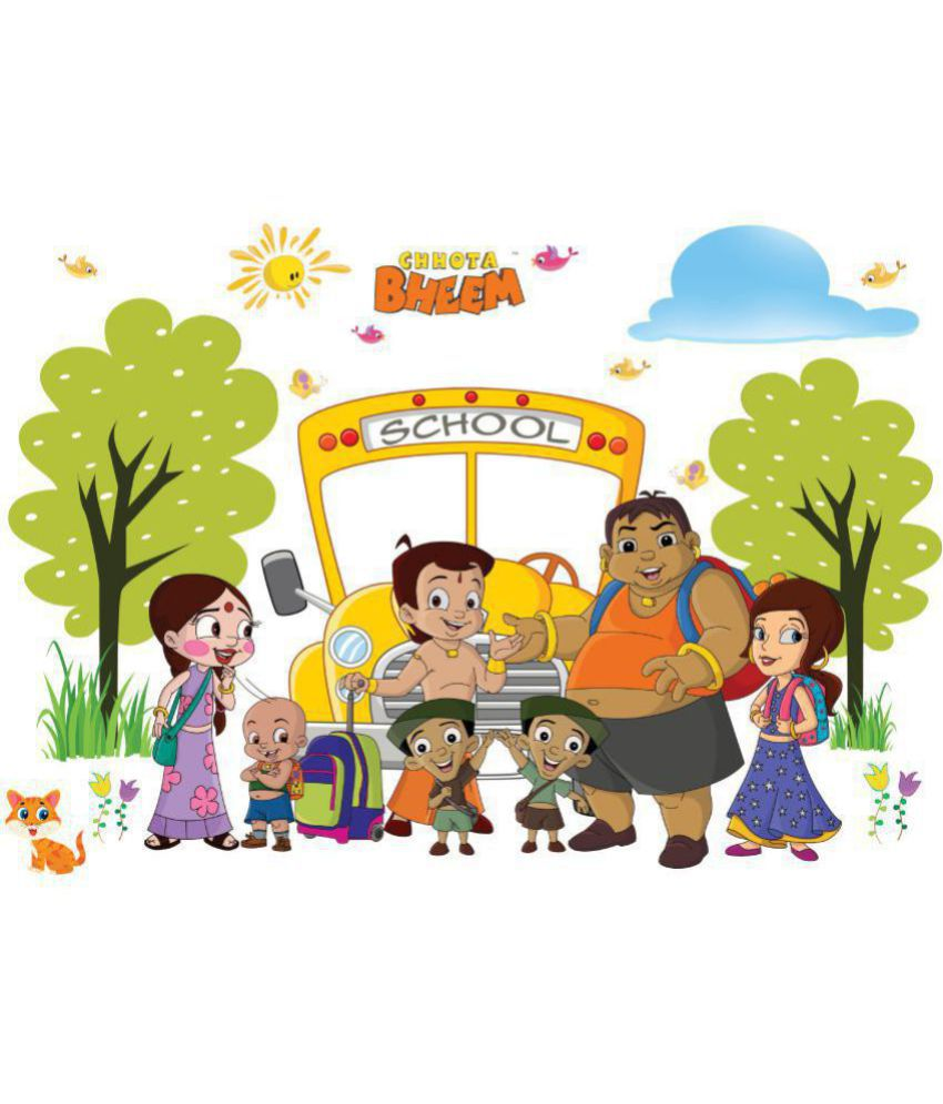 asian paints wall ons chhota bheem xxl back to school removable