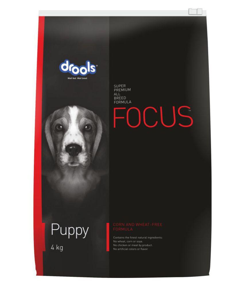 Drools Focus Puppy,Super Premium 4kg Dry  Only Chicken