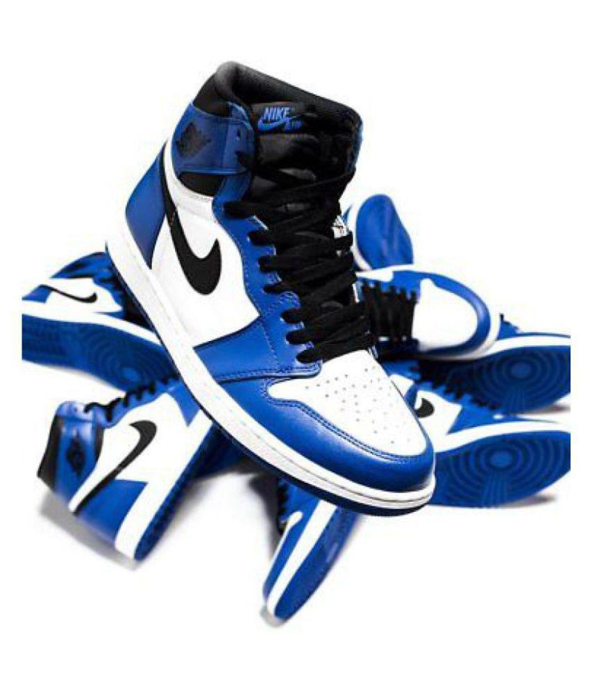 promo code 4a849 7afde Nike Air Jordan1 Retro Blue Basketball Shoes