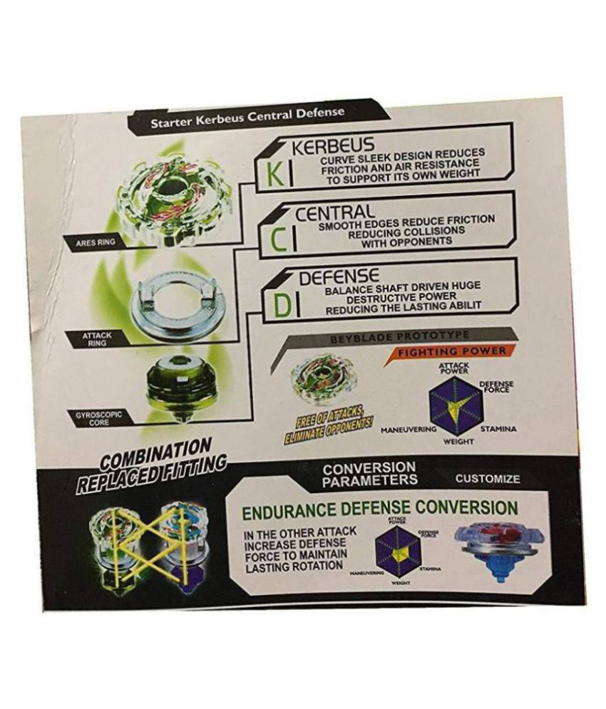 985640bfc ... Assemble Beyblade Burst Burning Passion for Peak and Kerbeus Central  Defence Starter Set with Handle Launcher
