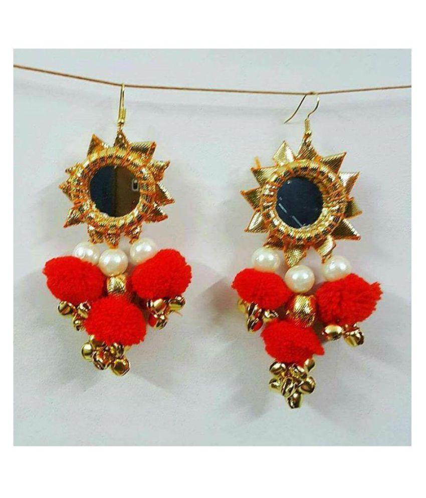 Gota patti new earring women & girls