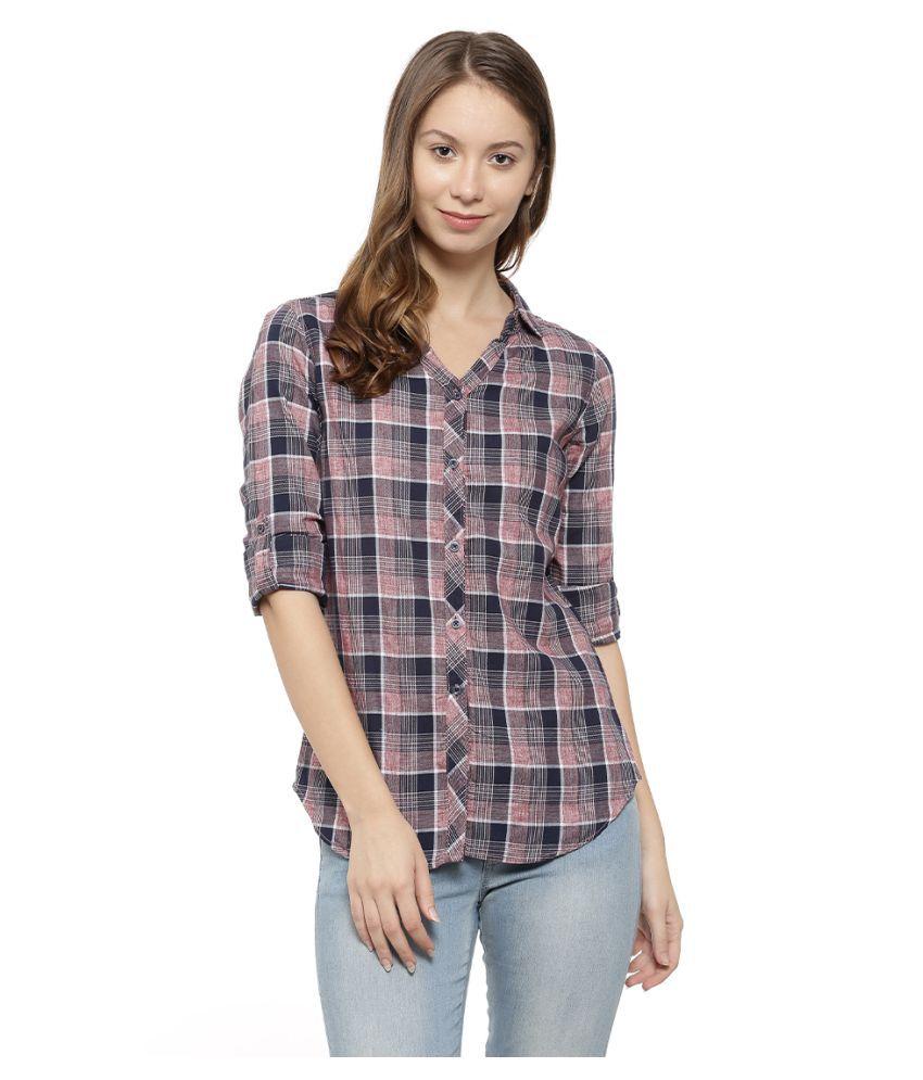 Campus Sutra Cotton Shirt