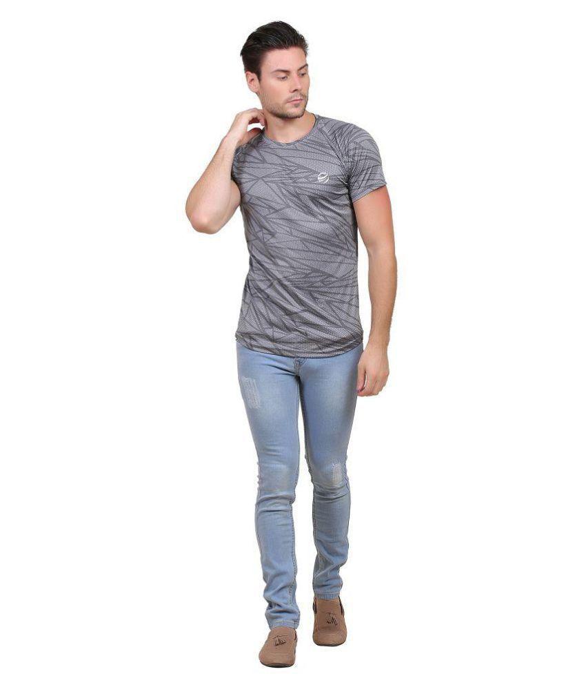 Zeolix Grey Half Sleeve T-Shirt