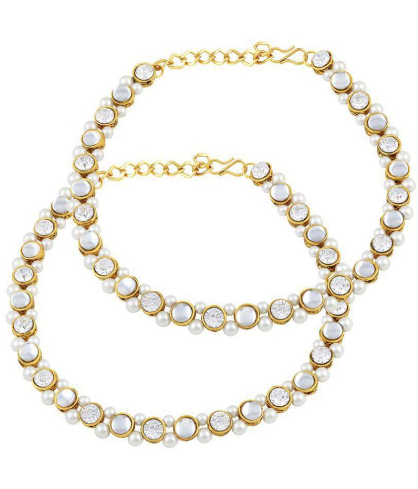 Asmitta Royal Traditional Gold Plated Anklet For Women