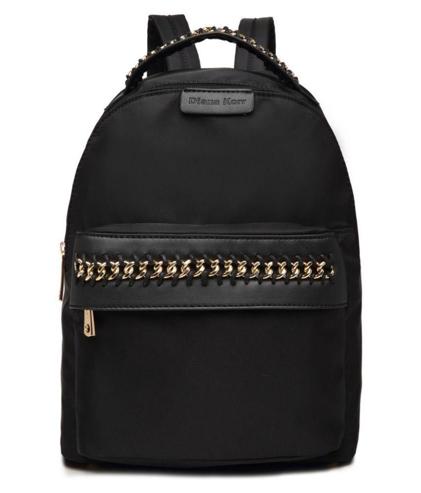 Diana Korr Black P.U. Backpack