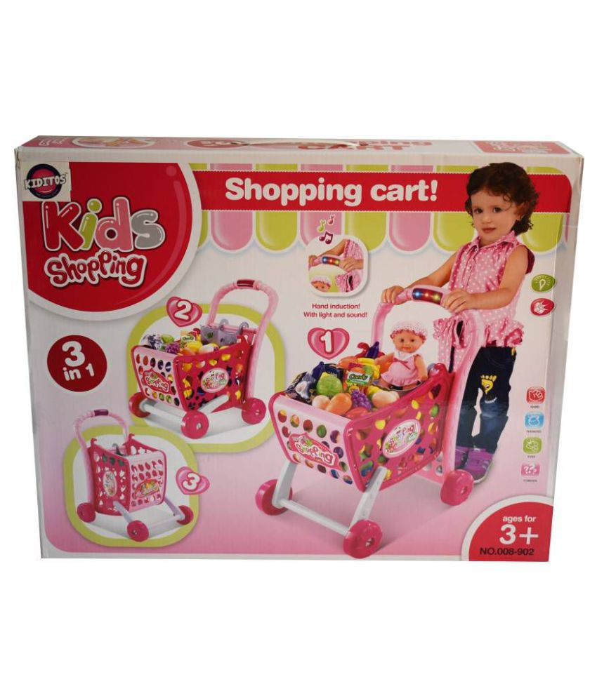 2ceafc8ef3e95 ... MA PRODUCTS Kids Supermarket 3 in 1 Shopping Cart Hand Induction with  Light & Sound ...