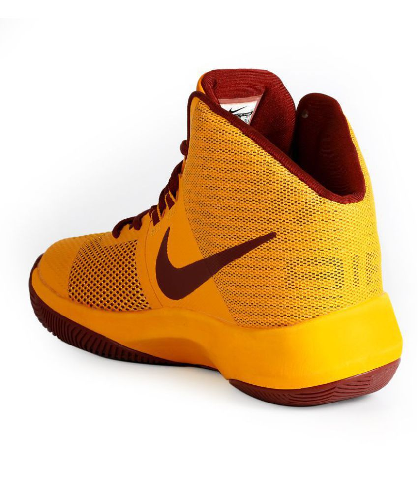 1eacd895e3ef4 Nike Air Precision Yellow Basketball Shoes - Buy Nike Air Precision Yellow Basketball  Shoes Online at Best Prices in India on Snapdeal