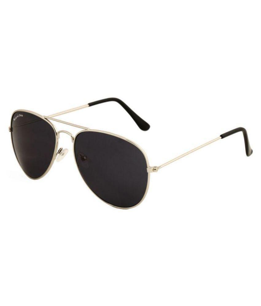 Royal Son - Black Pilot Sunglasses ( RS007AV )