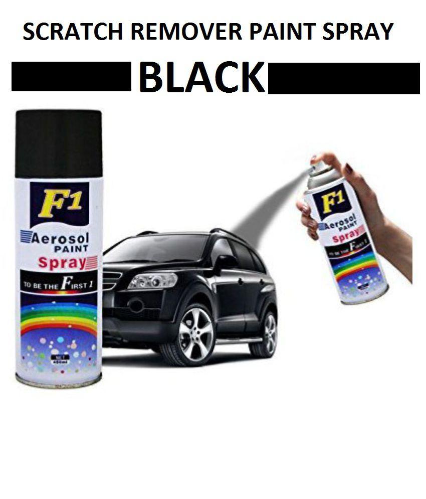 Car Paint Spray Can.F1 Scratch Remover Aerosol Spray Paint Shiny Black Colour For Car Bike