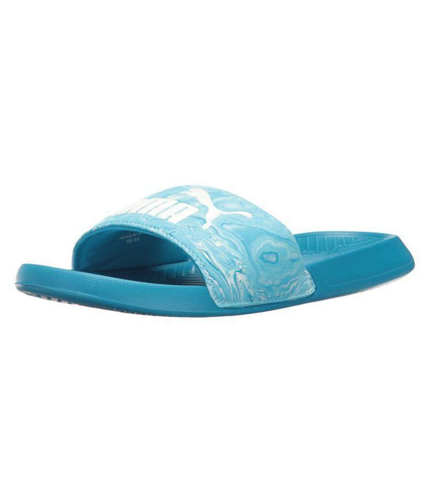1a96659946cde Puma Blue Slide Flip flop Price in India- Buy Puma Blue Slide Flip flop  Online at Snapdeal