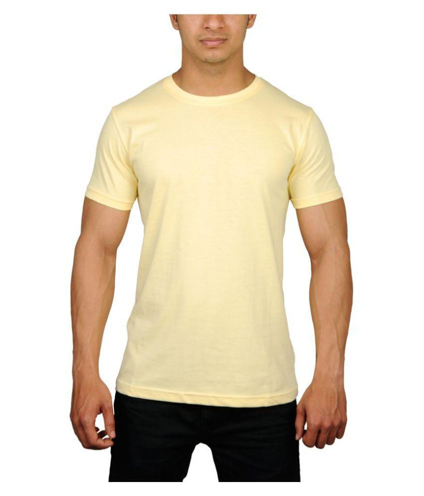 RT Apparel Yellow Half Sleeve T-Shirt Pack of 1