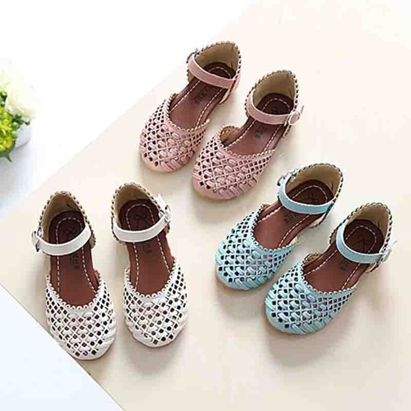 185adca8f114 Girls Sandals Summer Toddler Gladiator Sandals Flat Shoes Fashion Children  Shoes Girls Princess Cut-outs Kids Leather Shoes Price in India- Buy Girls  ...