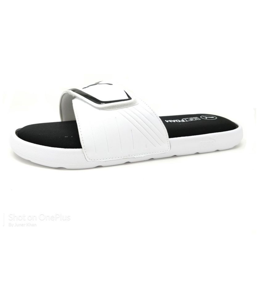 c59e02f22f0f Puma Unisex Starcat Soft foam White Slide Flip flop Price in India- Buy Puma  Unisex Starcat Soft foam White Slide Flip flop Online at Snapdeal