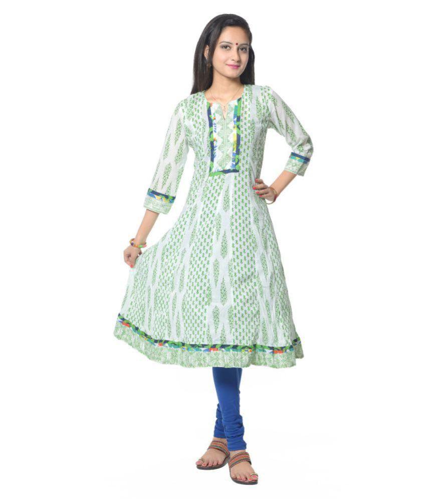 Vastra Vinod Multicoloured Cotton Anarkali Kurti