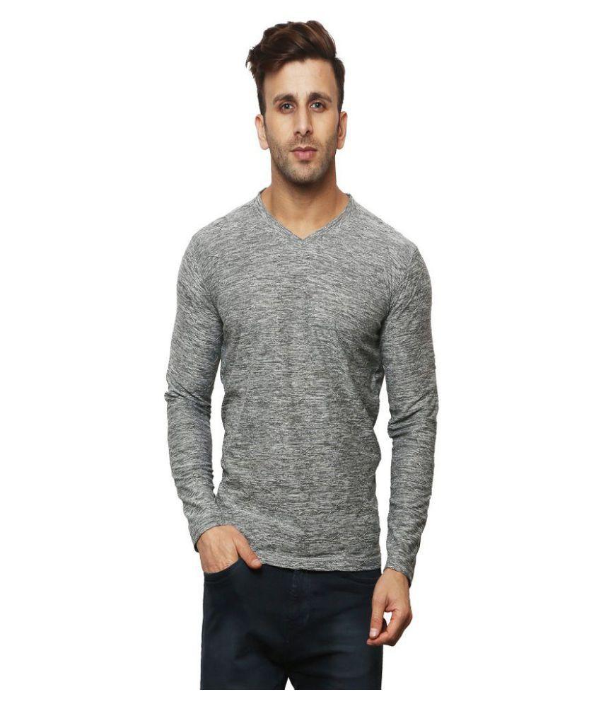 Leana Grey Full Sleeve T-Shirt Pack of 1