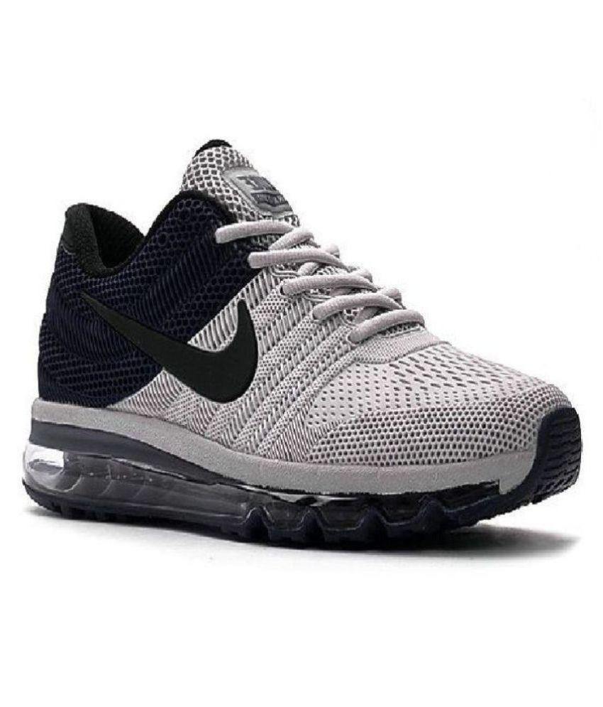 meet b6418 b8e89 Nike Nike Airmax 2017.5 KPU Black Grey Running Shoes