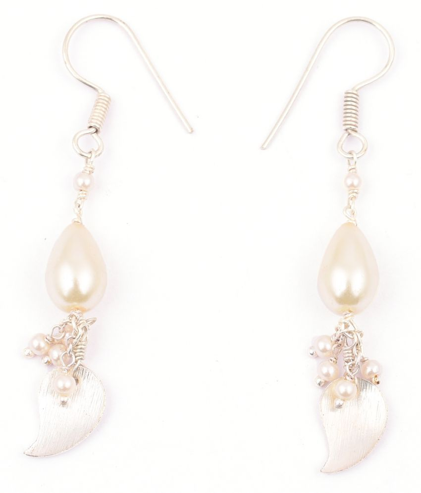 Pearlz Gallery's Earring in CHINESS shell pearl(white)
