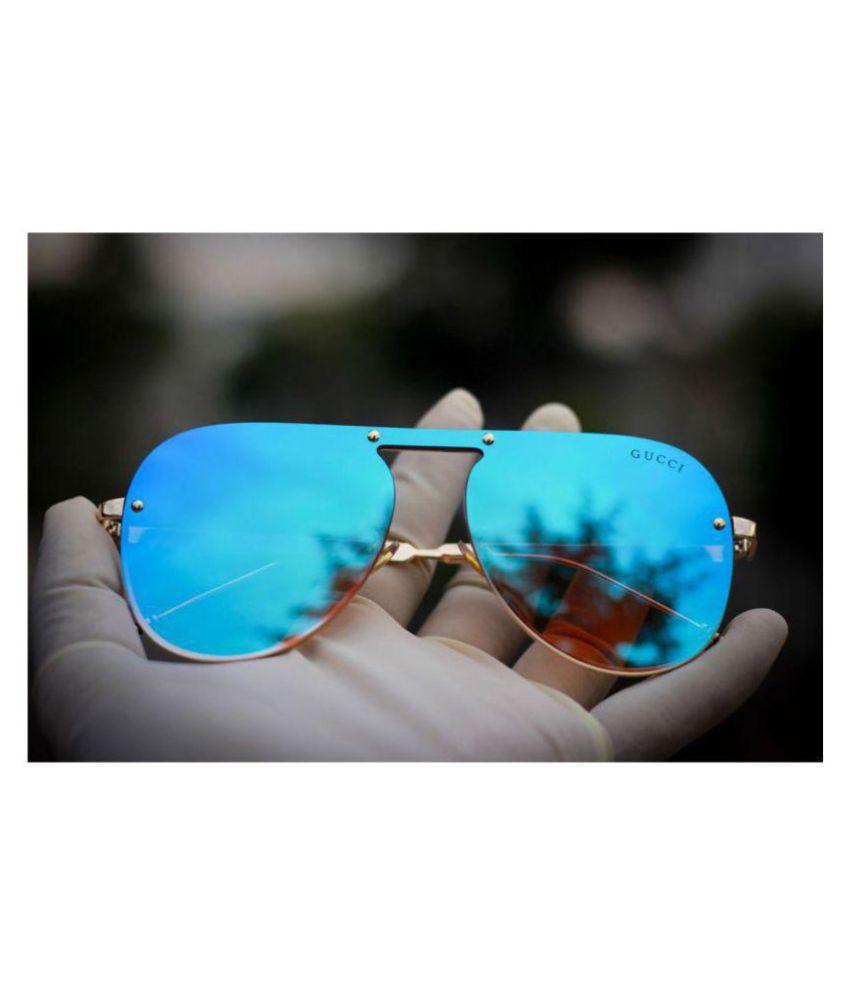GUCCI EYEWEAR Ocean Blue Aviator Sunglasses ( G8 )