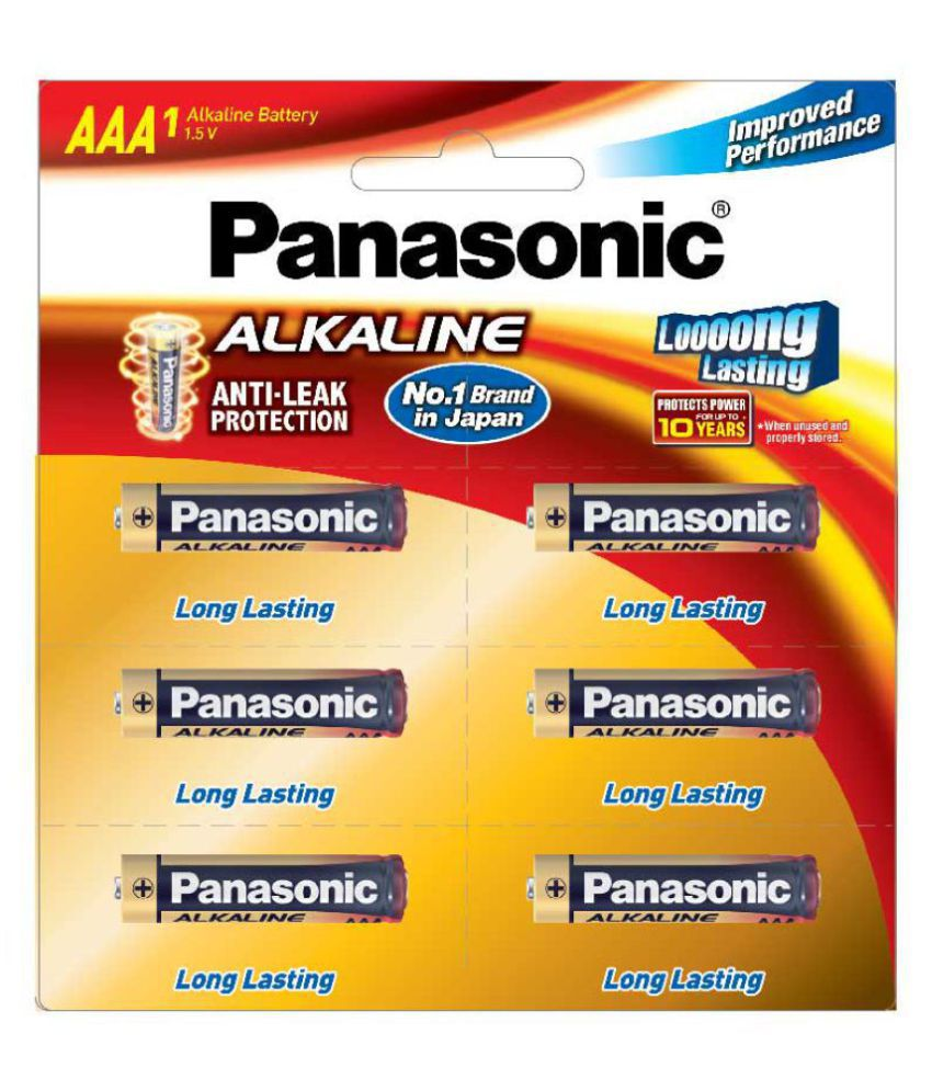 panasonic aaa alkaline batteries 1 5 v non rechargeable battery 6 rh snapdeal com